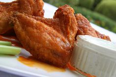 Check out this delicious recipe for Buffalo Wings from Weber—the world's number one authority in grilling. Weber Q Recipes, Weber Bbq, Weber Grills, Blue Cheese Sauce, Good Food, Yummy Food, Canned Chicken, Buffalo Wings, Wing Recipes