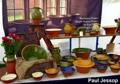 Paul Jessop a traditional country potter from Devon will be exhibiting his work — at The Stags' Heads, Wardlow Mires.