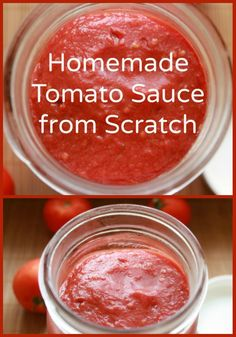 Recipe for Homemade Tomato Sauce from Scratch | NaturalFamilyToday.com
