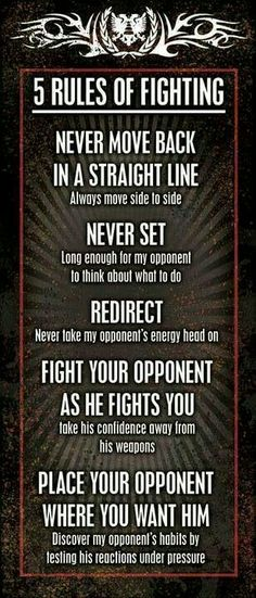 5 rules of Fighting