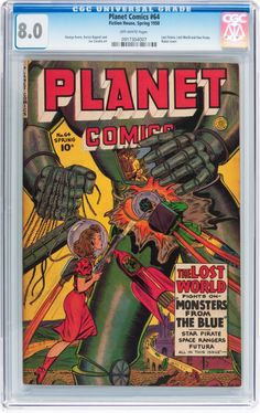 Golden Age (1938-1955):Science Fiction, Planet Comics #64 (Fiction House, 1950) CGC VF 8.0 Off-whitepages.... Image #1