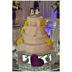 Pinguins noivinhos.  www.facebook.com / entretoposebolos