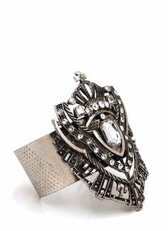 embellished shield cuff