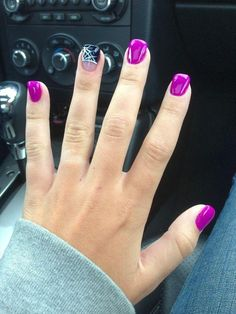 Wedding - Fuschia Nails