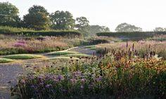 hauser and wirth somerset (garden by Piet Oudolf) Prairie Planting, Prairie Garden, Meadow Garden, Garden Fun, Landscape Architecture, Landscape Design, Somerset Garden, Dutch Gardens, Gravel Garden