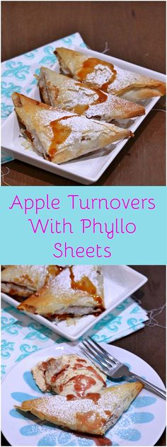 Apple Turnovers with Phyllo (Filo) Pastry Sheets