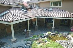 Check out the whole before/after of this covered patio -- stunning!