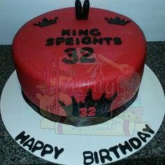 Bottle poppin custom red & blk cake