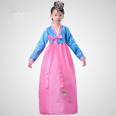 Child Embroidered Korean Traditional Dress Ethnic Minorities Girl Korean Hanbok Clothing Kids Korea Wedding Dress Oriental 18