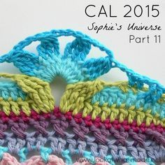 Welcome to Part 11 of the Sophie's Universe CAL 2015.  Tutorial for this edging.* ༺✿ƬⱤღ  https://www.pinterest.com/teretegui/✿༻