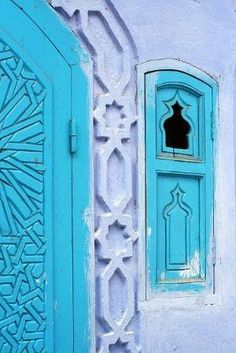 Morocco - turquoise door by dolly