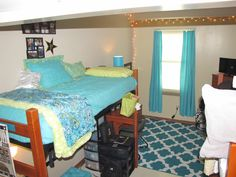 Vanderbilt Freshman Dorm, Crawford House Dorm, Commons Freshman Dorm, Aqua Dorm Decor