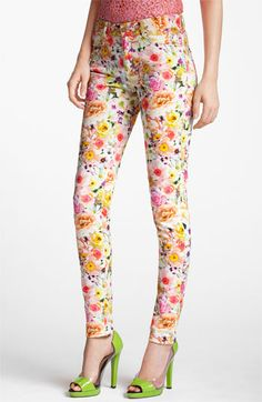 MSGM Floral Print Skinny Jeans available at #Nordstrom
