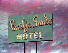 A fine art photo of the Pacific Sands Motel neon sign in Santa Monica, California.