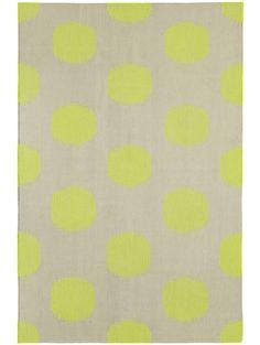 Genevieve Gorder Dot Rug, Neon Lime 8x11, $1348