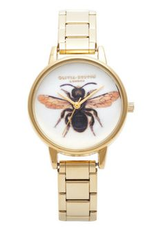 Olivia Burton Woodland Bee Bracelet Watch - Gold €93