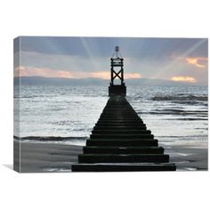 Canvas print of this image was taken at another place in Crosby Liverpool of the pipeline running out to sea Out To Sea, Art For Sale, Liverpool, Art Pieces, Stairs, Canvas Prints, Places, Image, Stairways