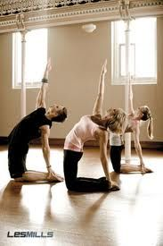 LOVE Les Mills Body Flow. Great for core strengthening and stretching what is sore. :)