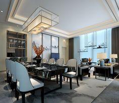 新中式餐厅dining room