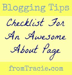 What should you include in your blog's about page? This checklist will point you in the right direction.