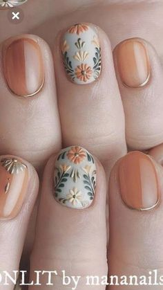 I hope the beautiful nail style can bring you a good mood in autumn. Eplore creative and beautiful nail art & nail designs to inspire your next manicure. Try these fashionable nail ideas and share them with us at Diy Nails, Cute Nails, Pretty Nails, Autumn Nails, Fall Nail Art, Cute Nail Colors, Manicure E Pedicure, Gel Manicure Designs, Nails Design