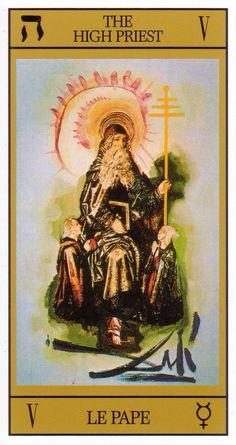 Tarot.dali. the Hierophant Pope High Priest