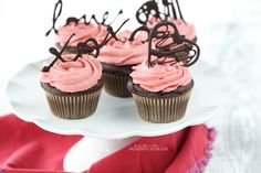 Chocolate Cupcakes with Strawberry Frosting   Danielle Walker's Against all Grain