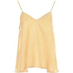 Mes Demoiselles Sun Top (8.425 RUB) ❤ liked on Polyvore featuring tops, cut loose tops, loose fitting tops, stripe top, beige top and loose tops