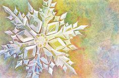 Watercolor Snowflake Step by Step | Sweetbriar SistersSweetbriar ... #Snowflakes