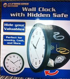 Found this wall clock safe at Dollarama.