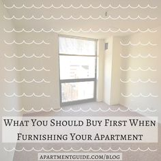 Furnishing your apartment is a big job, and can be both time consuming and expensive. Make it less stressful by prioritizing the items that you need buy! Check out this article to find out which items you should buy first.