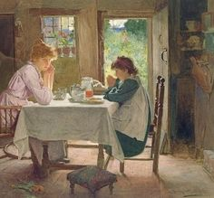 For What We Are About To Receive, 1899 ~ Carlton Alfred Smith ~ (English: 1853-1946)