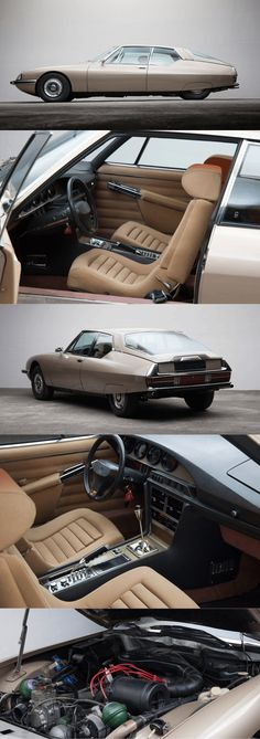 1971 Citroën SM / beige champagne / France / for sale at thecoolcars.nl / 17-327