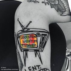 Revolution won't be televised ink tattoo Dope Tattoos, Pretty Tattoos, Beautiful Tattoos, Body Art Tattoos, Tattoos For Guys, Acab Tattoo, Sick Tattoo, Tattoo Shop, Tattoo Drawings