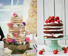 Crazy About Naked Cakes! | Lucy Dylan Weddings