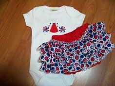red white and blue ruffled bottom team spirit ruffle bottom patriotic diaper cover