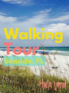 My favorite things to see in Seaside, Florida including the famous airstream food trucks, colorful beach cottages, and whimsical beach pavilions.