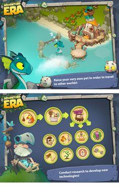 A arte do Mobile Game Adventure Era | THECAB - The Concept Art Blog