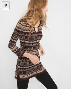 Petite Patterned Tunic Sweater