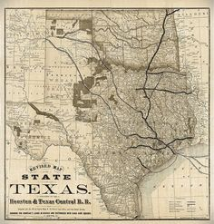 Old Map of Texas 1876 Vintage Historical Wall map Antique Restoration decor Style Map Texas state Map Texas Map Texas Wall Art Fine Gift by VintageImageryX