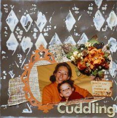 grandmother - granddaughter layout @Sizzix @prima_marketing