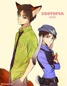|| Zootopia Crossover || Attack on Titan || Levi Ackerman & Eren Jaeger ||