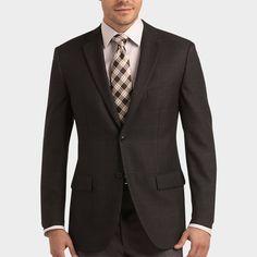 ****Pronto Uomo Charcoal Windowpane Sport Coat   Men's Wearhouse