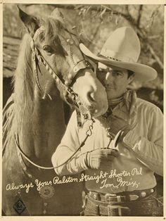 Wonder Horse Tony-with Tom Mix--decaying hollywood mansion's (this picture is inside some of the Tom Mix rings)