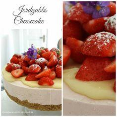 Madame Edith - Enkla recept och Klassisk inredning: Frusen cheesecake - Jordgubbscheesecake