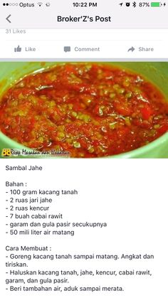 Indonesian Recipes, Indonesian Food, Vegan Recipes Easy, Cooking Recipes, Sambal Sauce, Nasi Goreng, Food Presentation, Meal Planning, Spicy