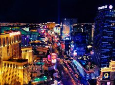 View from the top of Eiffel Tower at Paris Hotel in Las Vegas, Nevada