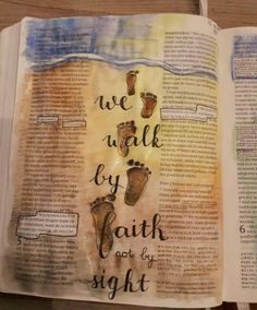 2 korinthiërs 4:18 en 5:7 bible journaling 'we walk by faith not by sight'