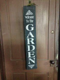 black stenciled spring sign, garden stencil,