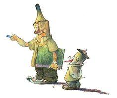 Yo, el lápiz, y mi amiga la goma de borrar tocada con un chapela. I, the pencil, and my friend the rubber with cap.